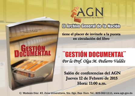 Invitacion  Libro ¨Gestión Documental¨