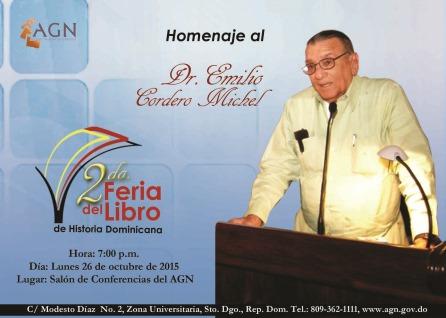 Invitación Homenaje Cordero Michel