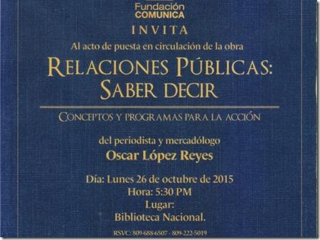 Invitacion relacion publicas