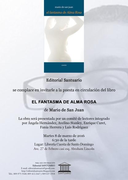 Invitación EL FANTASMA DE ALMA ROSA