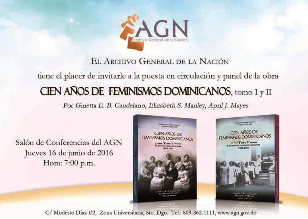 Invitación corregida - Cien años de feminismo, tomo I y II