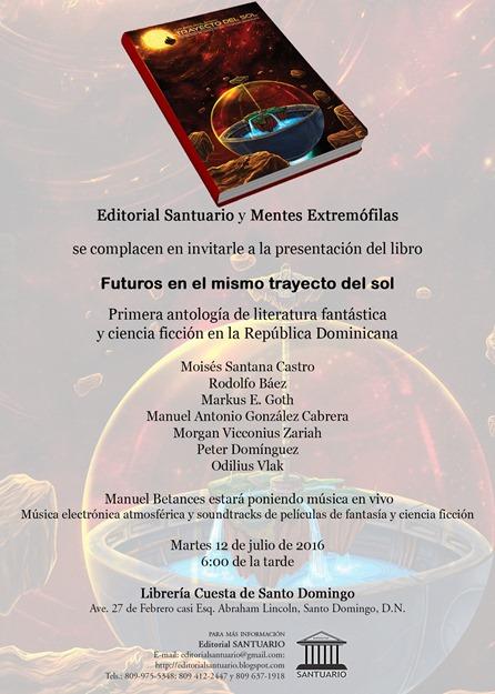 Invitación FUTUROS EN EL MISMO TRAYECTO DEL SOL..