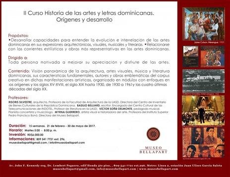 Promoción curso Historia de las artes y letras dominicanas. 2017