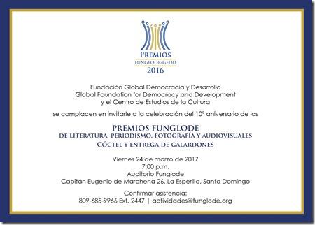 Invitación Premios 2013